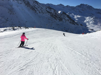 A Val Thorens, pistes amples i ben abalisades