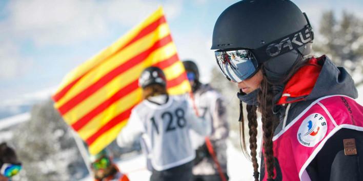 competicio,snowboard,bandera,catalana,font romeu