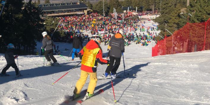 masella,alta afluencia,gent,esquiadors,pla
